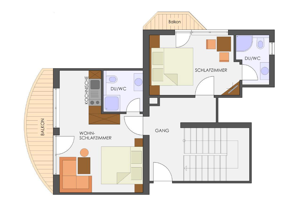 ferienwohnung f r 2 bis 4 personen im apart garni almfried. Black Bedroom Furniture Sets. Home Design Ideas